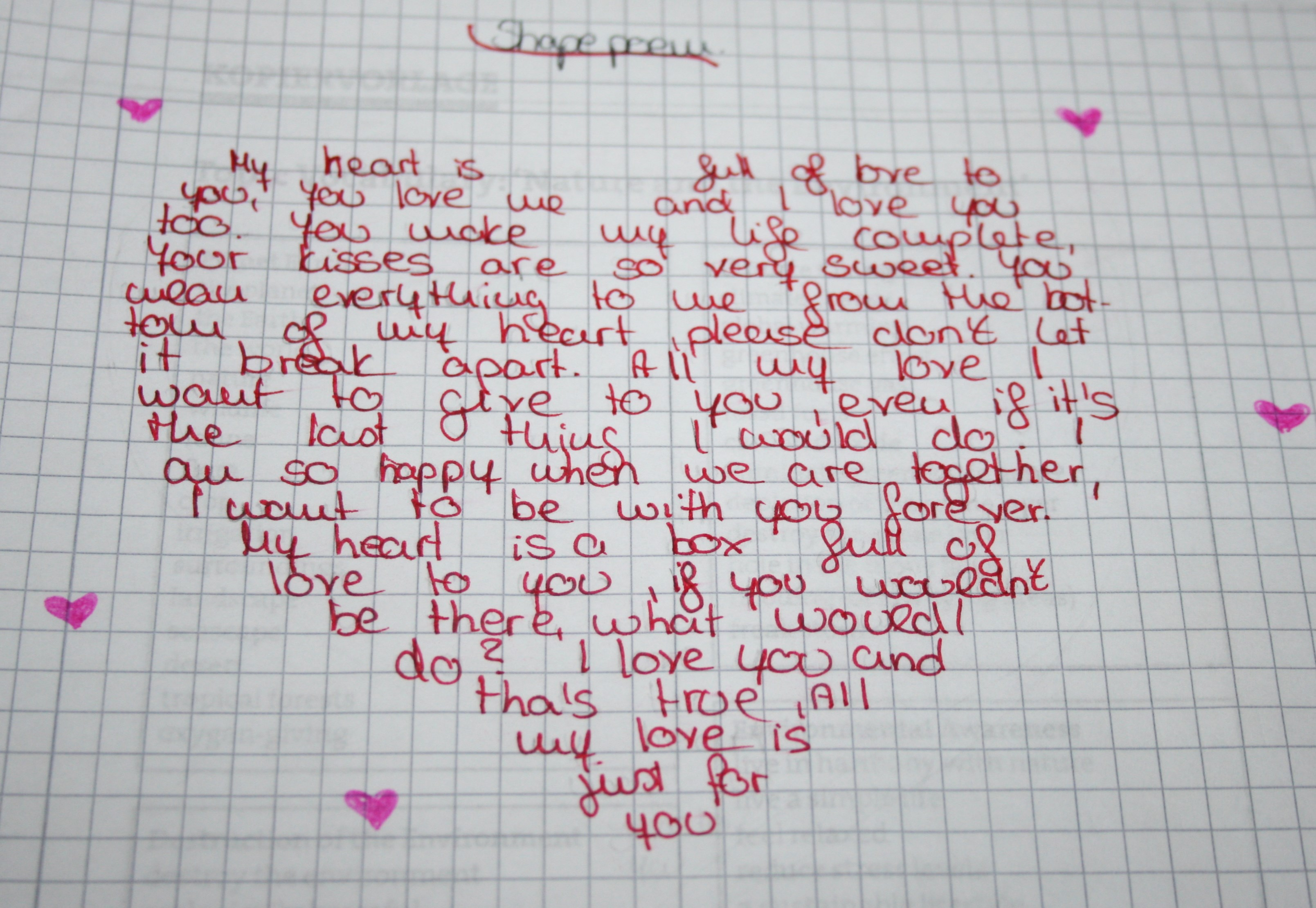 A little poem about love | The Undateable Girl's Diary
