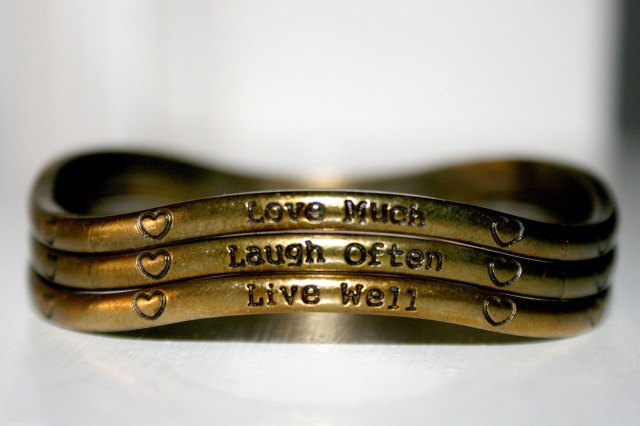 Golden quote bracelets