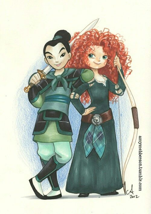 Mulan and Merida