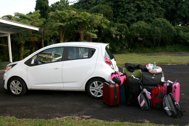 Loading a mini car