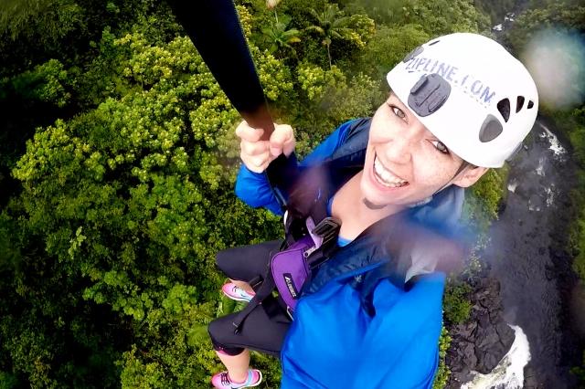 Ziplining AKAKA Falls Big Island Hawaii
