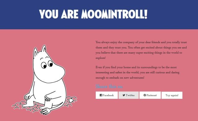 Which Moomin Are You